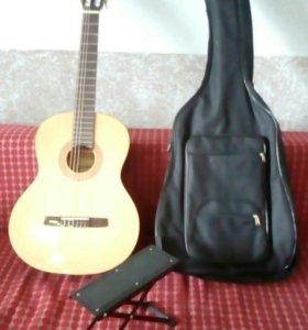 Гитара,чехол,подставка.