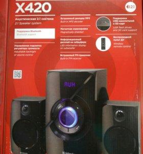 Акустическая система 2.1 с FM,Bluetooth