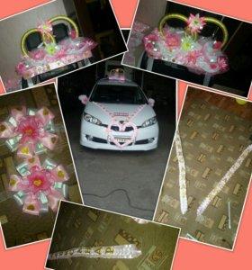 Украшения для свадебного авто