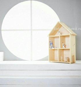 Кукольный домик с дверками