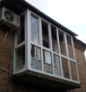 Пластиковые балконы любой сложности