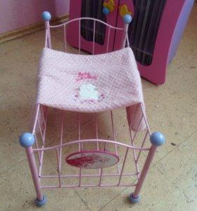 Кроватка с пледом для кукол