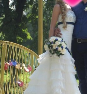 Свадебное платье.Италия.ручная работа.40-42р.