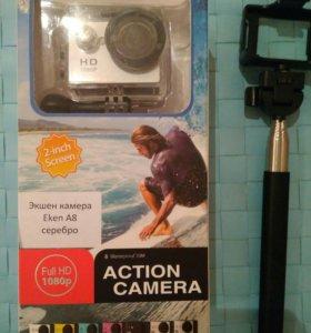 Экшен камера EKEN A8 новая