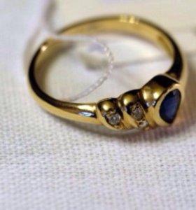 Золотое кольцо 18 размер!