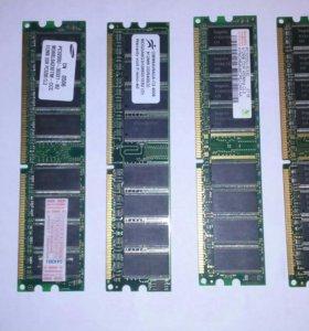 Оперативная память PC 3200 DDR 400Mhz 512Mbx4