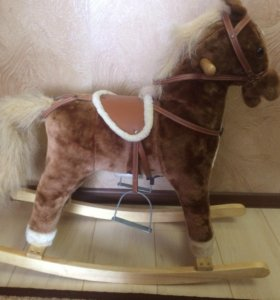 Лошадка - качалка, музыкальная