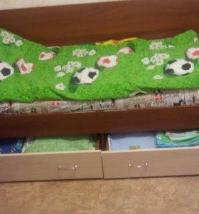 Детская стенка с кроватью.