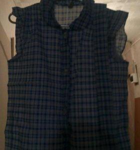 Рубашка на девочку с ремешком