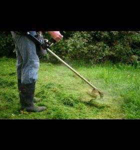 Скошу траву триммером