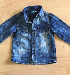 Рубашка джинсовая, р.86