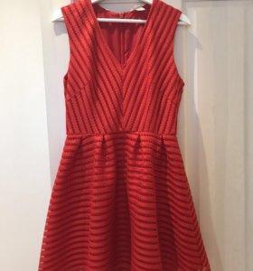 Красное коктейльное платье H&M