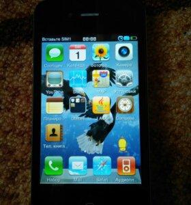 Телефон, стилизованный под iphone 4 (tft)
