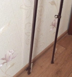 Шины для карниза 240, 257 см, коричневые, металл