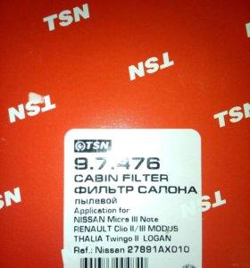 Фильтр салона TSN 9.7.476 (Largus, Logan, Duster,