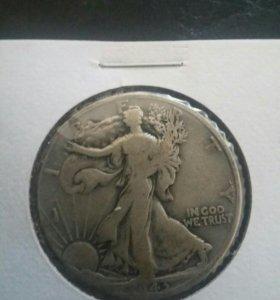 США пол доллара 1943 год серебро