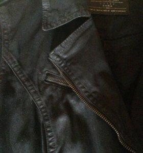 Zara джинсовая куртка косуха