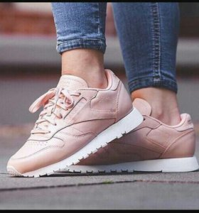 Кроссовки Reebok Cl Leather Pink