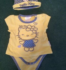 Боди и шапочка Hello Kitty