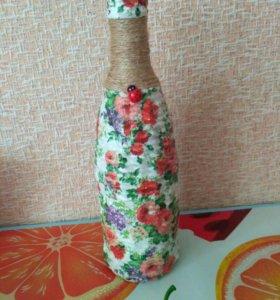 Плетенная бутылка