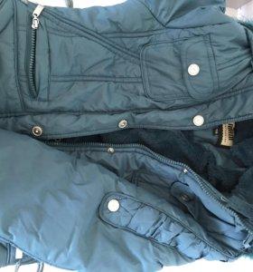 Куртка на осень - зиму с капюшоном