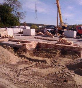 Фундамент бетонные работы кирпичная кладка