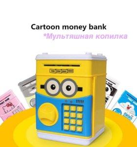 Детская игрушка копилка сейф Миньон Покемон