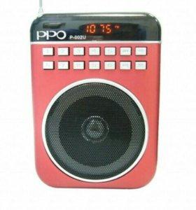 Радиоприемник цифровой PPO P-002U (USB)