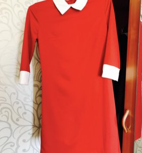 Платье красное , насыщенного цвета