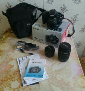 Canon 450d с объективами