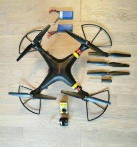 Квадрокоптер syma 8xw sjcam 4000