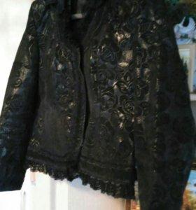 Куртка-педжак кожа женская