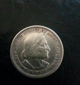 США пол доллара 1893 год