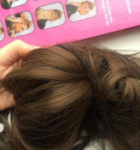 Волосы на заколках🌸