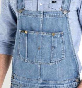 Новые рабочие джинсовые комбинезоны на бретельках