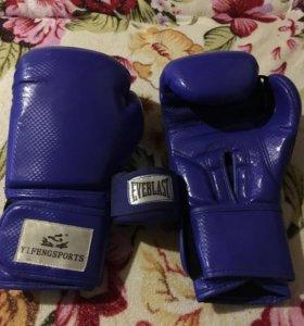 Боксерские перчатки + бинты в подарок