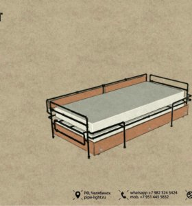 Лофт кровать. Двуспальная с ящиком.