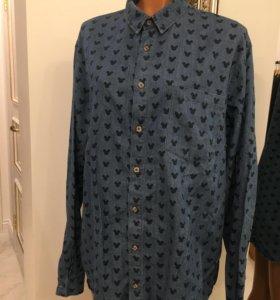 Рубашка джинсовая, мужская, XL