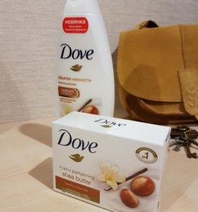 Крем-гель и крем-мыло dove масло ши+пряная ваниль