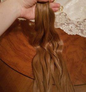 Капсульные волосы для наращивание натуральные