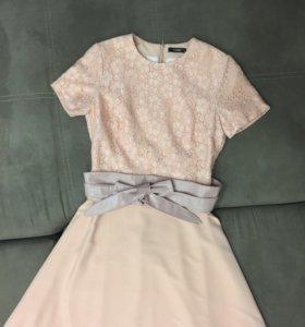 Вечернее платье + пояс + сережки