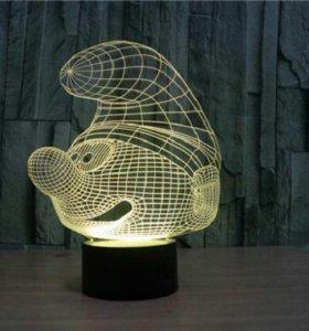 3d светильник Смурфик