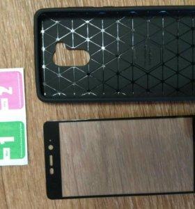 Чехол и защитное стекло на Xiaomi Редми 4 Pro