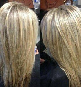 Услуги простого окрашивания волос