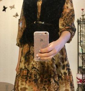 Платье и жилетка