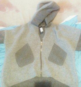 Шерстяная куртка-кофта
