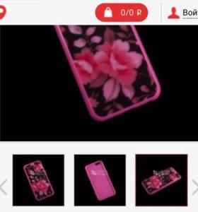 Защитная силиконовая крышка на iphone 6 (айфон)