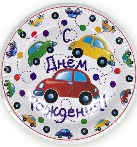 посуда для праздника. оформление шарами