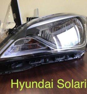 Фары на Hyundai Solaris рестайлинговая.
