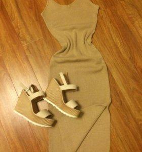 Платье, босоножки